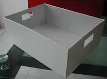 Simple white PU shopping tray gift baskets for packaging gift or candy sales in supermarket