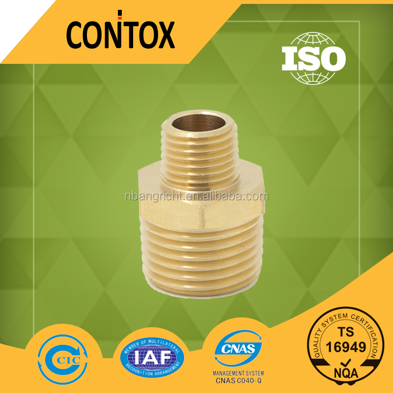 B404 Male threaded quick air hose transition tube connector/nipple brass quick connector