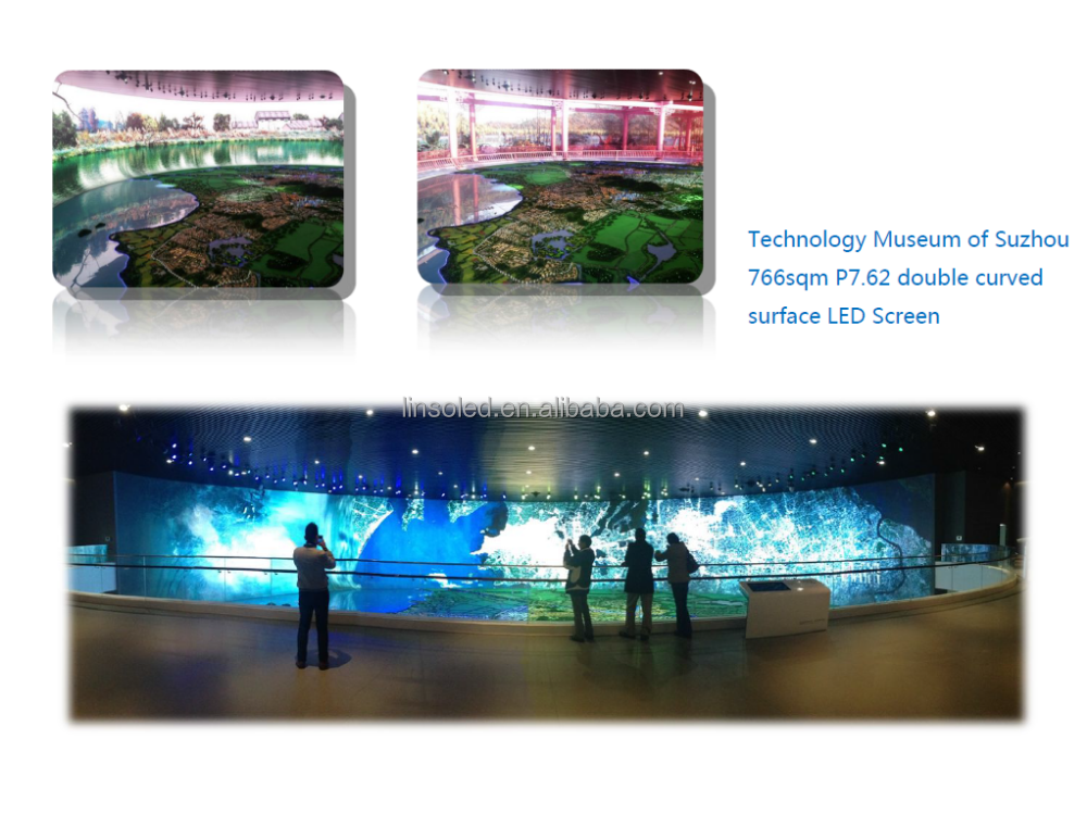Shanghai Linso LED display indoor, led cabinet P10,P7.62,digtal advertising billboard sign