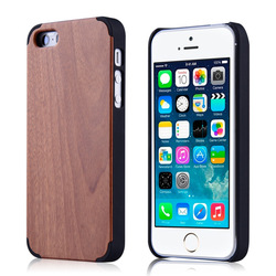 Button Plastic Phone Case for iPhone 6 Bamboo with PC Blank Wood Phone Case for iphone6