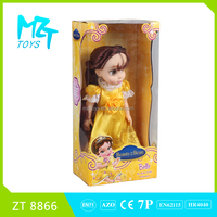 2016 New 12 inch vinyl Belle princess baby doll ZT8866