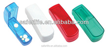 Wholesale big promotion Fashionable Pill Box with Cutter for drugstore, clinic