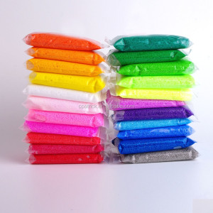 Promotion DIY kids aquosity foam beads, colorful magic foam putty, wholesale non dry intelligent super light clay
