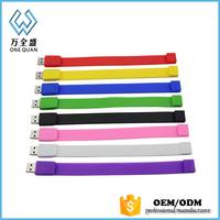 Waterproof Silicone Usb Flash Drive Bracelet