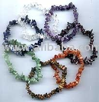 Gemstone chip bracelets
