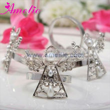 A0777 Wholesale Silver Angel Wedding Table Decoration napkin rings for weddings