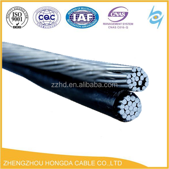 Low voltage twisted ABC cable 4/0 awg abc cable