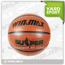 top quality rubber blade leather PU custom printed basketball