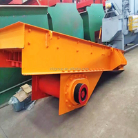 Electromechanical durable vibrating feeder machine for stone