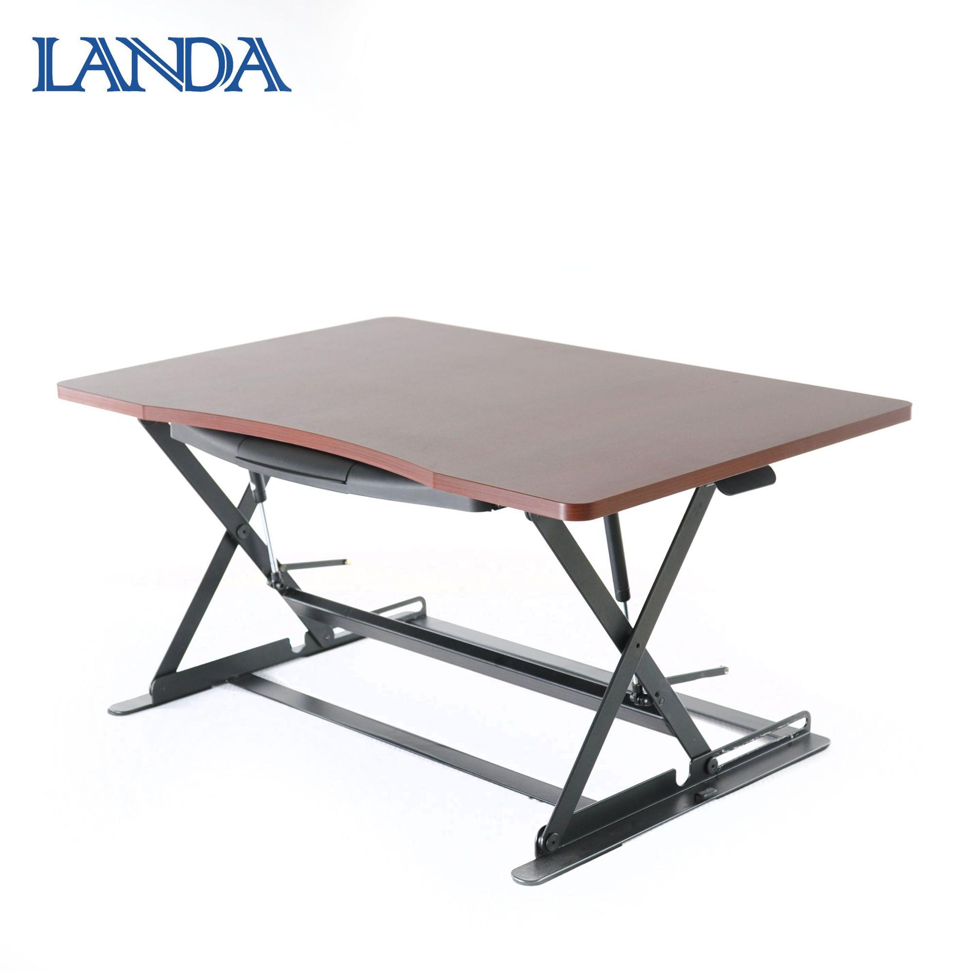 인체 공학적 안티 피로 바닥 매트 앉아 스탠드 책상 책상 높이 조절 책상