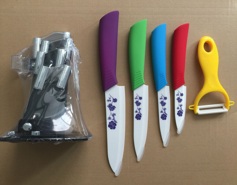 Promotional Items China Kitchen Ceramic Color Knife Set