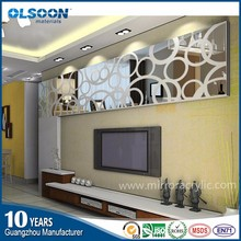 Guangzhou Acrylic mirror manufacture Olsoon decorative full wall mirror glass tile