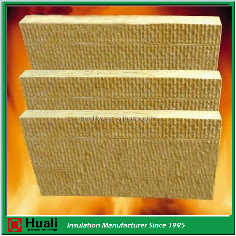fireproof mineral rigid insulation rock wool for wall and roof