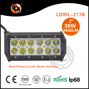 HOT SALE 12V 24V 36W Sxs Hot 4x4 Led Light Bar ATV SUV Trucks SXS Off Road Auto Parts Offroad Led Light Bar