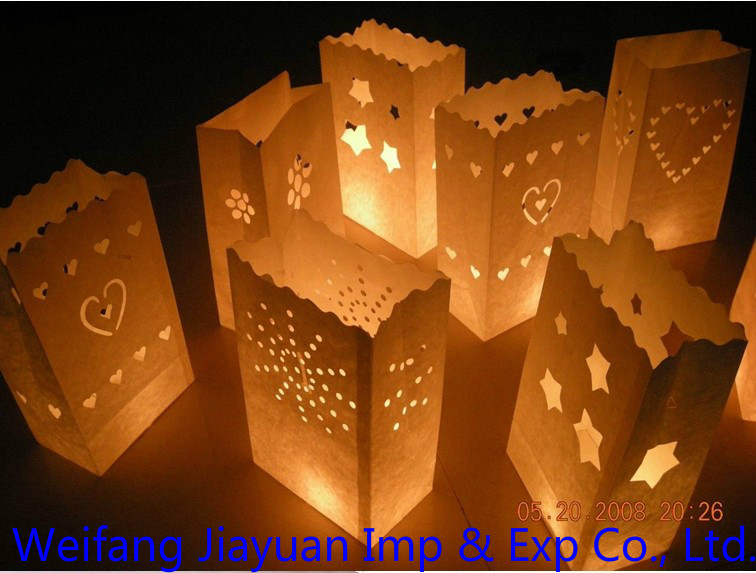 New design! water proof and fireproof wax paper Candle Bag (chinese factory supplier)