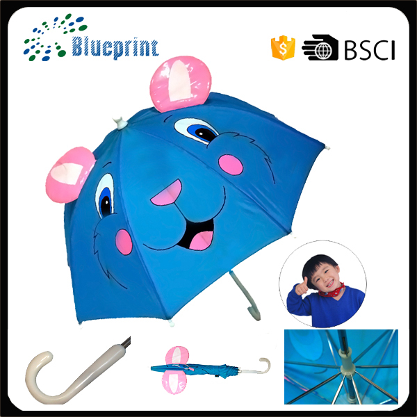 Fashion blue cat print for cat ear kid umbrella