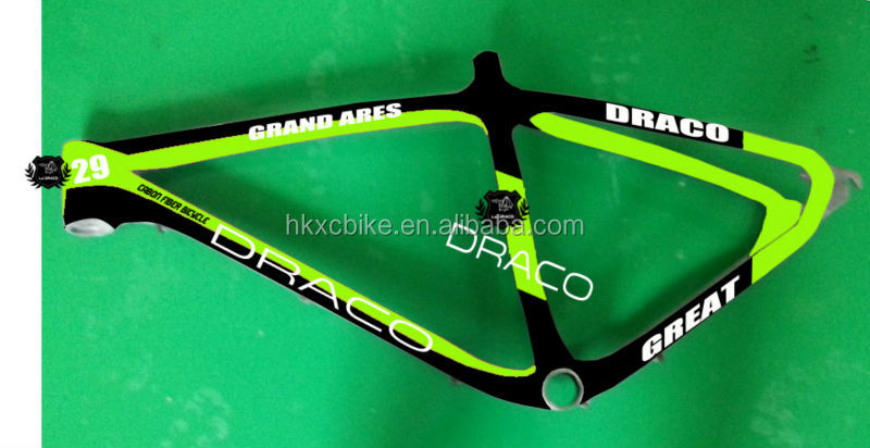 "good quality 19"" size 950g OEM production 2015 new carbon mountain bike frame 29er"