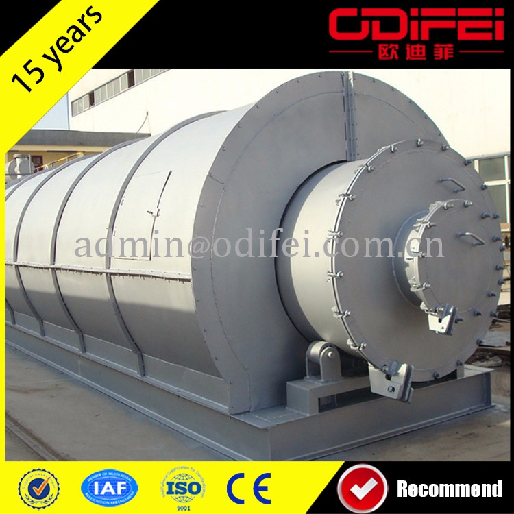 lowest price waste tyre to fuel oil recycle plant made in China