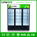 1280liters three glass door soft drink refrigerator