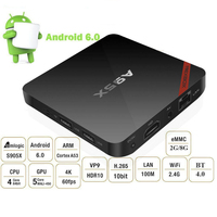 NEXBOX A95X Smart Android TV Box Android 6.0 S905X Quad-Core UHD 4K 2G/ 8G Mini PC pocket tv digital tv receiver for streaming