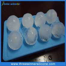 unbreakable silicone ice ball mold silicone ball shaped ice cube tray