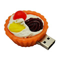 New Simulated food egg tart usb flash stick for gifts promotion