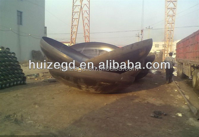 "72"" Large carbon steel pipe end cap"