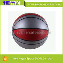 Trade Assurance rubber basketball with hand print PU laminated basketball