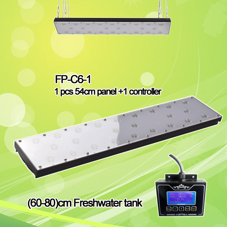 24inch 60w planted Freshwater fish live led aquarium light sunrise sunset smart controller Freshwater fish 1 controller