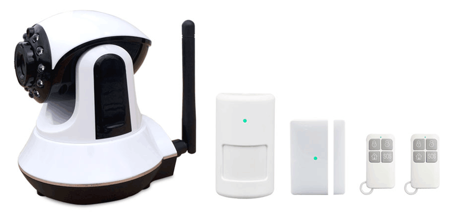 WIFI+GSM double anti-theft alarm system 1280*720 pixel HD WIFI IP camera alarm system smart wifi alarm system