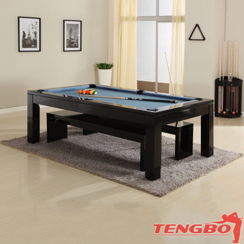 Solid wood dining pool table dinner table pool dinner table