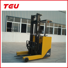 Chinese forklift electric reach fork lift machine with GS battery