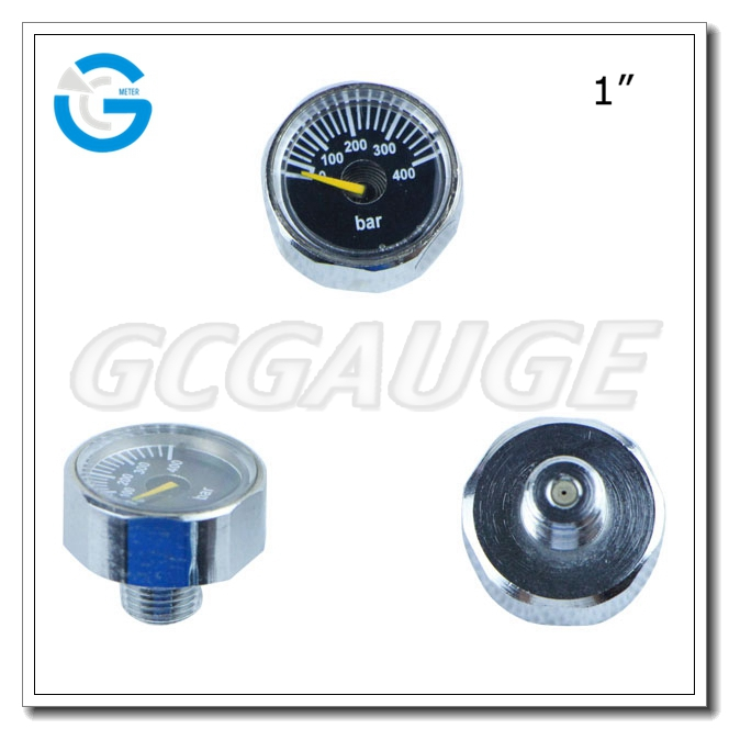 High quality 1inch 23mm 25mm small micro miniature pressure guages