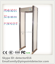 for entrance body scanner 33 Zones wall mounted Metal detector walkthrough security cheking and conrtol