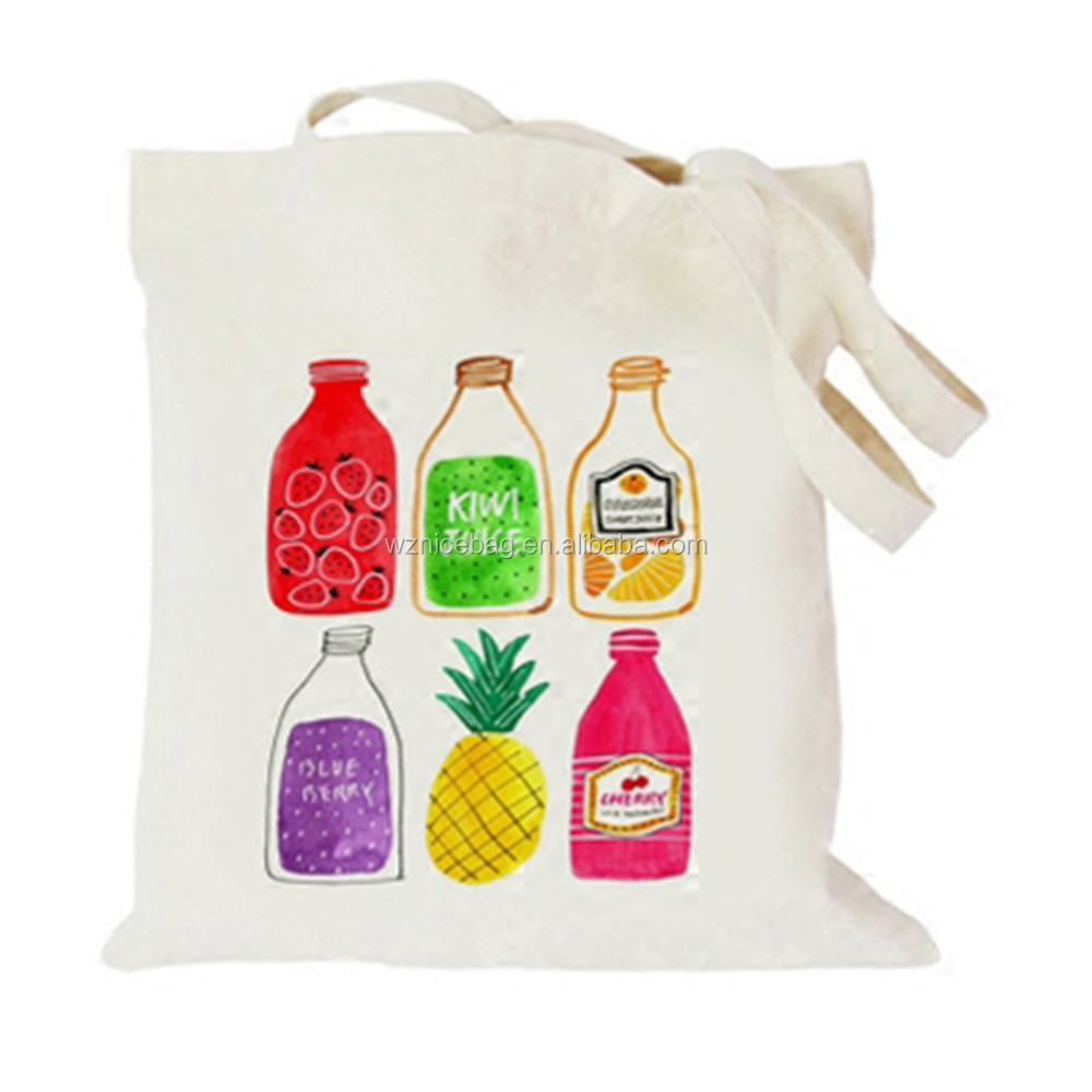 Nicepacking custom white cotton cloth shopping bag cotton carry bag for daily using