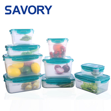 2018 High quality bpa free leaf proof microwave kitchen travel airtight food storage container set