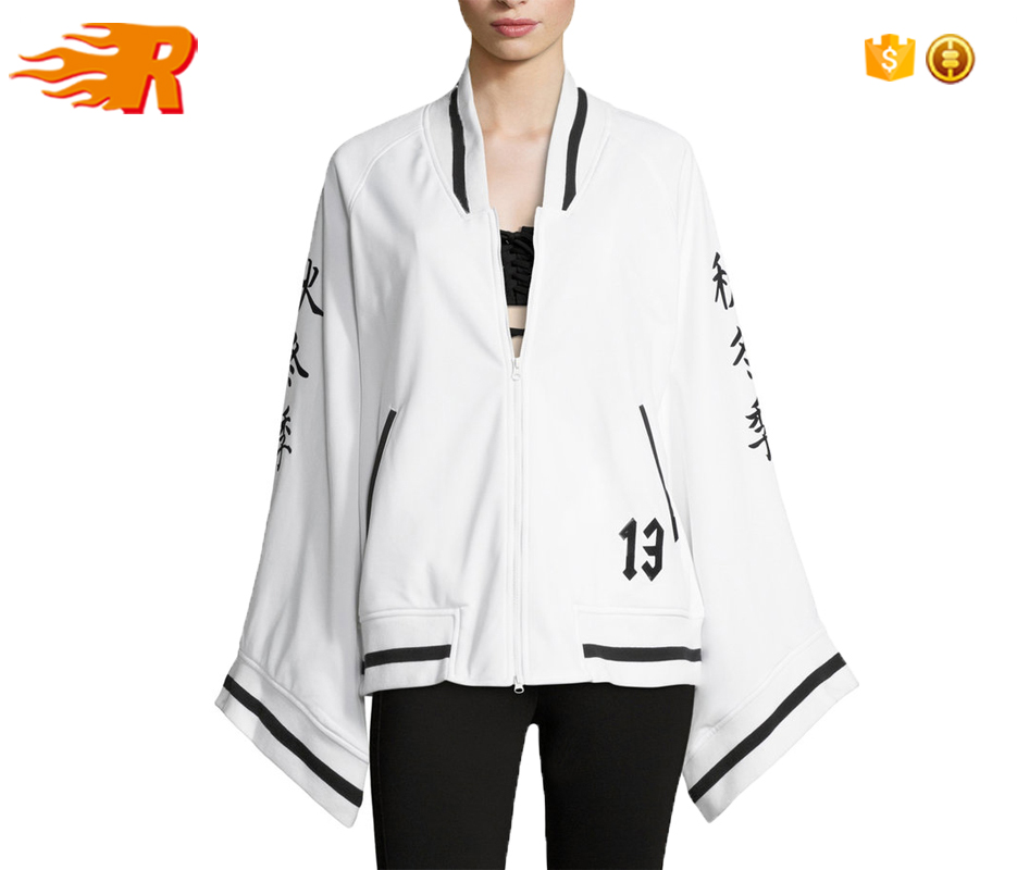 Wholesale Cool Kimono Style Tricot Track Jacket for Women