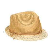 Wholesale Plain dyed hand crochet raffia fedora straw hat paper hat