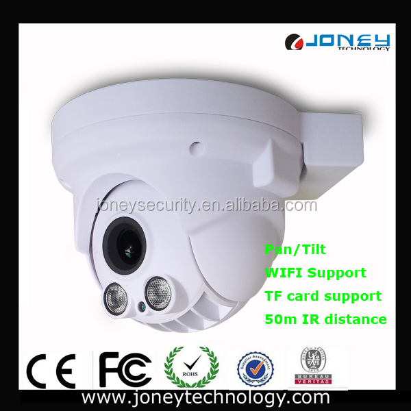 New Onvif 50m IR Fixed Lens 1080P 360 Degree Wireless Home Security Camera System