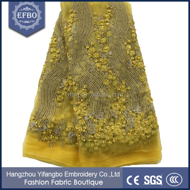 2016 newest design types of mesh lace fabric soft comfortable dress indian lace beaded diamonds covered net lace fabric