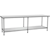 Commercial Kitchen Equipment Stainless Steel 2 Tiers Work Table With Under Shelf BN-W22