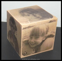 Wooden Cube with full colors printing
