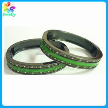 Vogue jewellery bracelets metal green enamel boy bracelet bangles blank hyderabadi bangles
