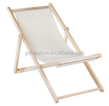 Cheap folding metal deck chair,wood beach sun lounge chair