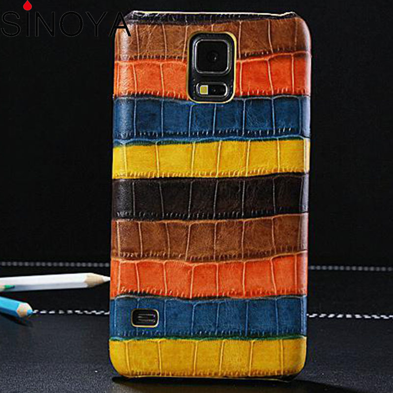 case for samsung galaxy s5 gt-19600 slim back mobile phone case Cow skin Cover for Samsung Galaxy S5 I9600