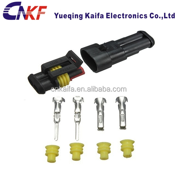 auto TYCO TE AMP 2 pin waterproof male and female electrical wire harness connector OEM NO.:282104-1/282080-1
