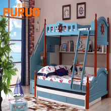 210c # modern bookshelf and stairs wooden bunk kids panel bed