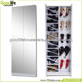 Goodlife furniture high heels shoes rack with decorative glass