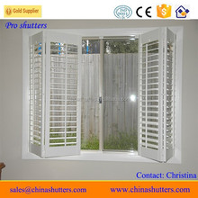 White folding window shutters, hollow shutter adjustable louver
