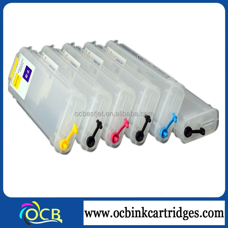 72 refillable cartridges, for HP Designjet T610 T620 T770 T790 T1120 T1200 empty refill Printer ink cartridges